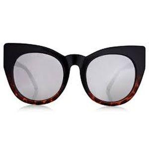 """Quay Australia """"Cha Cha"""" Black Tortoise Sunglasses"""